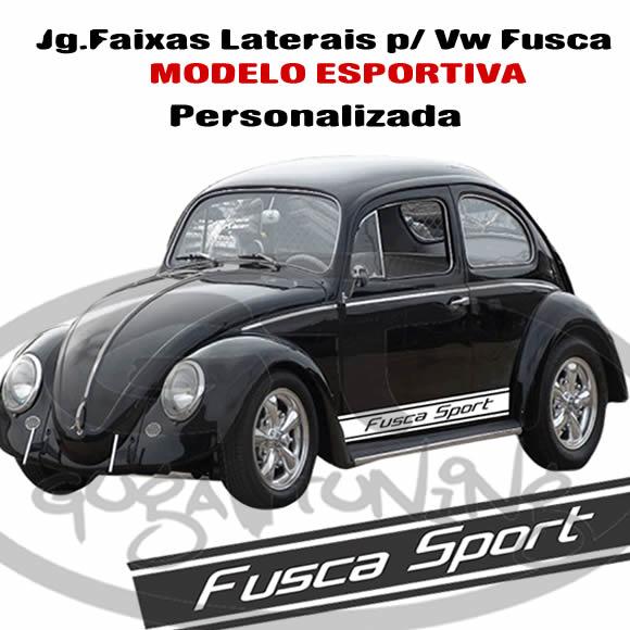 b0922b7fc Faixa Adesiva lateral VW Fusca Modelo Esportivas . - Guga Tuning